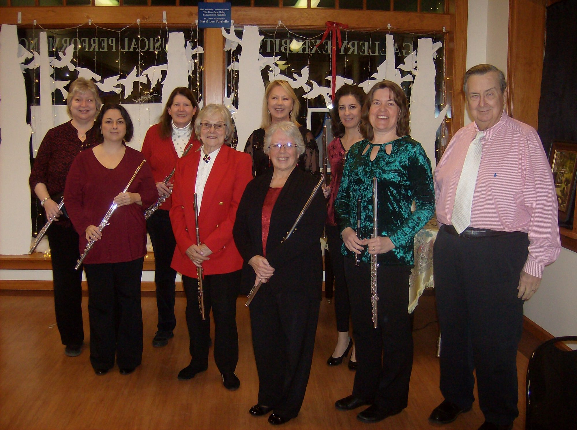 Plainville Flute Choir performing for the Southington Community Cultural Arts Holiday Evening